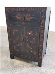 Sale 9063 - Lot 1030 - Small Oriental 2 Door Cabinet (h:60 x w:40 x d:30cm)