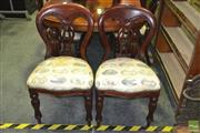 Sale 8284 - Lot 1030 - Set of 12 Balloon Back Chairs