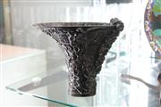 Sale 8322 - Lot 84 - Horn Carved Cup