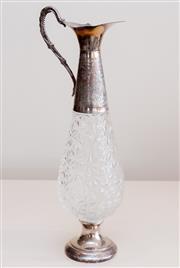 Sale 8369A - Lot 48 - An Italian EP & glass claret jug, H 36cm