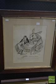Sale 8537 - Lot 2022 - Lionel Lindsay (1874 - 1961) - The Lions Share 60 x5 7cm (frame size)