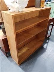 Sale 8684 - Lot 1034 - Birdseye Maple Art Deco Open Bookcase
