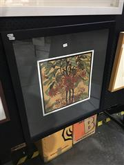Sale 8702 - Lot 2008 - Margaret Preston Decorative Print 68 x 73cm (frame)