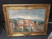 Sale 8707 - Lot 2027 - Ciro Canzanella (1948 - ), Paesaggio Campo, oil on canvas, 93 x 123cm (frame size), signed lower right