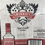 Sale 8801W - Lot 9 - 6x Smirnoff Vodka, 1000ml
