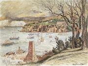 Sale 8941 - Lot 2046 - Cedric Emanuel (1906 - 1995) - Stormy Weather, Camp Cove Watsons Bay, Sydney,Harbour, 1982 36 x 48 cm