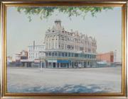 Sale 8938 - Lot 582 - Bill Walls (1940 - ) - Shamrock Hotel, Bendigo, 1988 90 x 120 cm