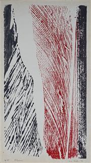 Sale 8980A - Lot 5087 - Una Foster (1912 - 1996) - Chasm, 1972 46 x 25 cm (mount: 59.5 x 38 cm)
