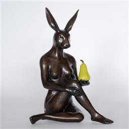 Sale 9096A - Lot 5017 - Gillie and Marc - Rabbitwoman Grew a Pear H:25 x L:18 x W:18 cm (weight: 2 kgs)