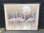 Sale 9056 - Lot 1039 - Letterman - Flamingos (h:127 x w:157)