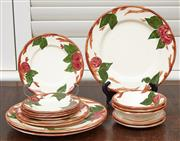Sale 9081H - Lot 37 - A small collection of Fransciscan English dinnerwares in an apple pattern