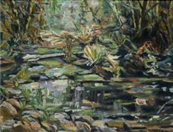 Sale 9093A - Lot 5018 - Neil Douglas (1911 - 2003) - Bushscape 26 x 34 cm (frame: 62 x 68 x 4 cm)