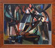 Sale 8415 - Lot 600 - Wladyslaw Dutkiewicz (1918 - 1999) - Abstract 59.5 x 80.5cm