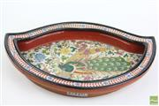 Sale 8490 - Lot 377 - Wucai ogee shaped basin, Wanli mark, interior decorated with peacock