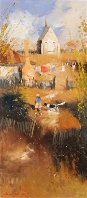 Sale 8583 - Lot 501 - Colin Parker (1941 - ) - Hill End Backyard Games 45 x 20cm