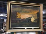 Sale 8707 - Lot 2054 - Artist unknown, - Woolloomooloo Corner, oil on canvas board, 60 x 76cm (frame size), signed lower left -