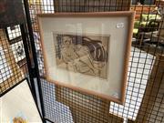 Sale 8924 - Lot 2026 - Artist Unknown - Muse silk screenprint, 44 x 51cm (frame), stencil signed lower left -