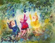 Sale 9047 - Lot 536 - David Boyd (1924 - 2011) - Reaching for the Grapes 29 x 36.5 cm (frame: 60 x 68 x 4 cm)