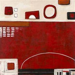 Sale 9154JM - Lot 5004 - KAREN BENTON Amusing oil on canvas 122 x 122 cm signed lower left, title verso