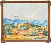 Sale 8374 - Lot 569 - Elaine Haxton (1909 - 1999) - Cuernavaca, Mexico 47 x 57.5cm