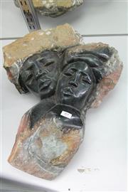 Sale 8322 - Lot 89 - Shona Stone Carved Figure Group