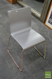 Sale 8398 - Lot 1091 - Set of 4 Metal Frame Chairs