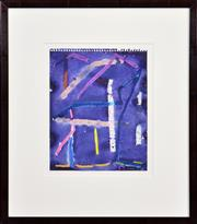 Sale 8415 - Lot 533 - Michael Johnson (1938 - ) - Collins Street #1, 1987 24 x 19cm (frame size: 45 x 38.5cm)