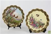 Sale 8490 - Lot 262 - Pair of Coalport Floral & Insect Plates