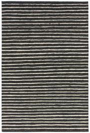 Sale 8651C - Lot 80 - Colorscope Collection; Flatweave Jute and Wool - Black/White Stripe Rug, Origin: India, Size: 160 x 230cm, RRP: $499