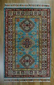 Sale 8672C - Lot 68 - Afghan Super Kazak 93cm x 63cm