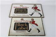 Sale 8748 - Lot 4 - Johnnie Walker Black Label Framed Mirrors (2) Largest 46cm x 31cm
