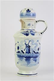 Sale 8806 - Lot 39 - Delft Blue and White Decanter ( H 23cm)