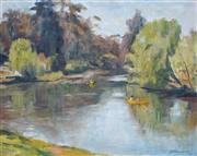 Sale 8847A - Lot 5076 - Joshua Smith (1905 - 1995) - Calm Waters, Lane Cover River, 1981 39 x 49cm