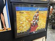 Sale 8932 - Lot 2019 - Vietnamese Contemporary School The Harvest acrylic on paper, 72 x 91cm (frame), signed -
