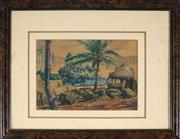 Sale 9053 - Lot 2086 - John Mills (1907 - 1993) - Camp Site & Island Views, 1943 17 x 24.5 cm (frame: 34 x 44 x 2 cm)