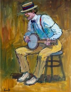 Sale 9093A - Lot 5033 - Gerrard Lants (1927 - 1988) - Mr Banjo 65 x 51 cm (frame: 100 x 85 x 4 cm)