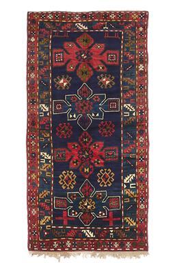 Sale 9185C - Lot 26 - ANTIQUE CAUCASIAN KAZAK, 125X255CM,  HANDSPUN WOOL