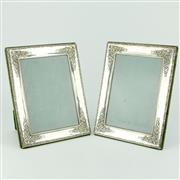 Sale 8332 - Lot 33 - English Hallmarked Sterling Silver Elizabeth II Pair of Picture Frames