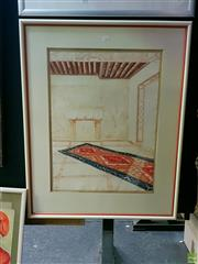 Sale 8582 - Lot 2027 - Artist Unknown Fireplace Work on Paper SLR 154/200