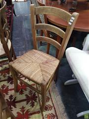 Sale 8601 - Lot 1062 - Pair of Ladder Back Dining Chairs