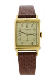 Sale 8618A - Lot 41 - A fine early Longines tank wristwatch;