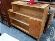 Sale 8684 - Lot 1082 - Art Deco Step Side Bookcase with Inlaid Door