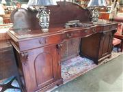 Sale 8740 - Lot 1079 - Mahogany Twin Pedestal Sideboard with Brass Handles Hordern Family