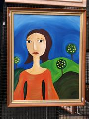 Sale 8752 - Lot 2013 - Artist Unknown - Sunny Days acrylic on canvas, 79.5 x 64cm, initialled lower right