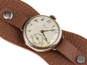 Sale 8837 - Lot 399 - A VINTAGE LONGINES WRISTWATCH; white dial, Arabic numerals, subsidiary seconds,15 jewel movement, no. 4028826, nickel chrome case, d...
