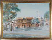 Sale 8938 - Lot 583 - Bill Walls (1940 - ) - Rifle Brigade Hotel, Bendigo, 1988 90 x 120 cm