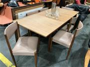 Sale 9022 - Lot 1080 - Timber Extension Dinning Table With Six Parker Dinning Chairs (H72 x W138 x D89cm)