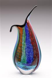 Sale 9060 - Lot 1 - Art Glass Sommerso Vase (H:31cm)
