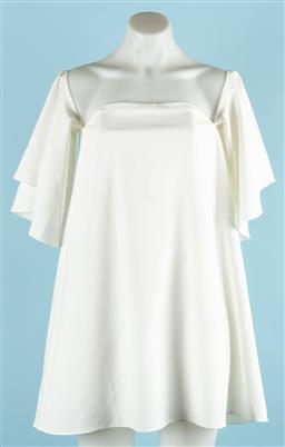 Sale 9091F - Lot 96 - A WITCHERY DRESS; in white with ballon sleeves, size 4