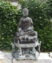 Sale 9087H - Lot 96 - A spectacular bronze statue of Buddha. 1.55m height